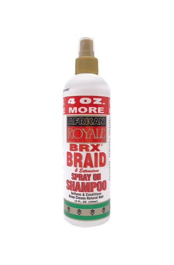 Bronner Bros African Royale BRX Braid and Extensions Spray On Shampoo 12OZ