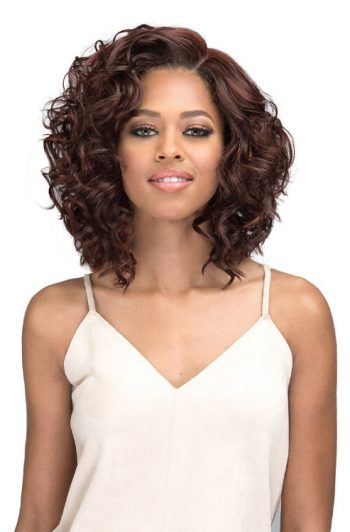 "Bobbi Boss MLF316 Luana 4"" Deep Part Swiss Lace Front Wig Model Front"
