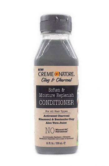 Creme of Nature Clay and Charcoal Soften and Moisture Replenish Conditoner 12 oz