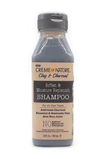 Creme of Nature Clay and Charcoal Soften and Moisture Replenish Shampoo 12 oz