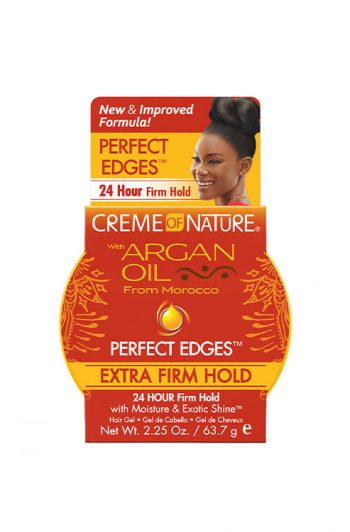 Creme of Nature Argan Oil Perfect Edges Extra Firm Hold Edge Gel 2.25 oz