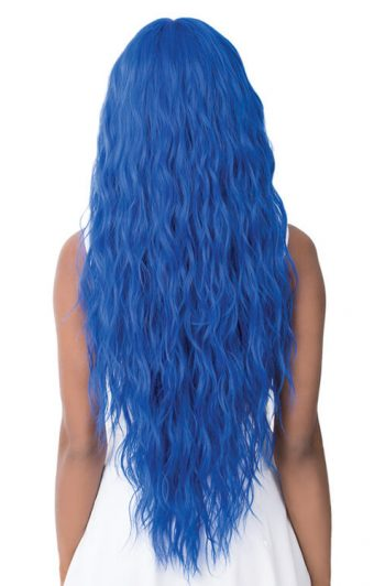 It's A Wig Angelica Model Royal Blue Back