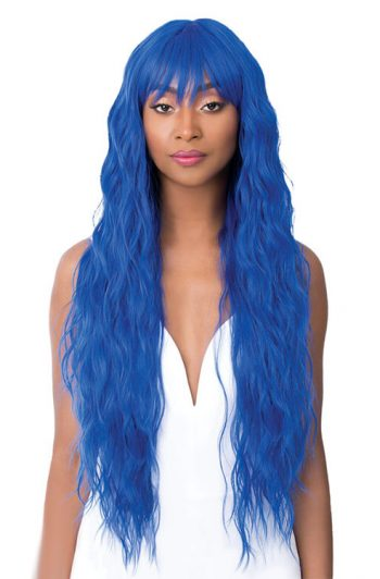 It's A Wig Angelica Model Royal Blue Front