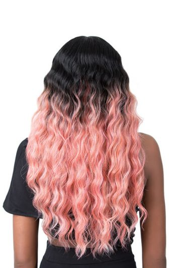 It's A Wig Edgar Model Coral Pink Back
