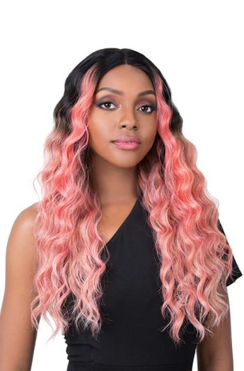 It's A Wig Edgar Model Coral Pink Front