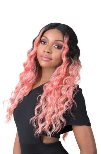 It's A Wig Edgar Model Coral Pink Side