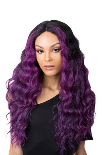 It's A Wig Edgar Model Purple Black Front