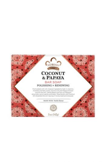 Nubian Heritage Coconut and Papaya Bar Soap Front