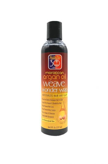 Salon Pro 30 Sec Moroccan Argan Oil Weave Wonder Wrap Black 8 OZ