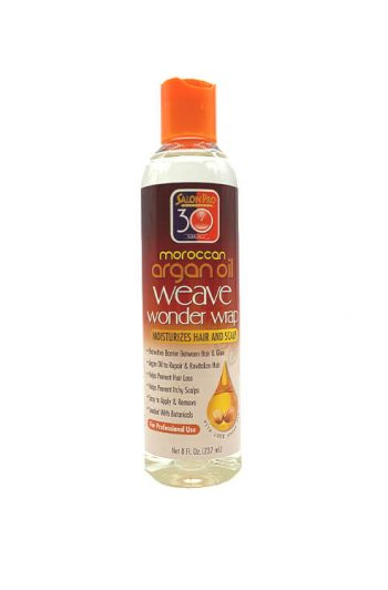 Salon Pro 30 Sec Moroccan Argan Oil Weave Wonder Wrap Clear 8 OZ