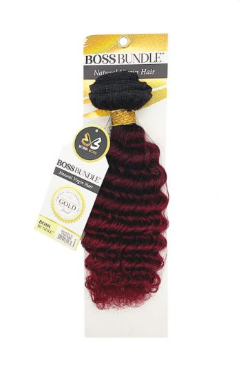 Bobbi Boss Gold Level Boss Bundle Hair Pineapple Deep Natural Virgin Weft Hair 14""