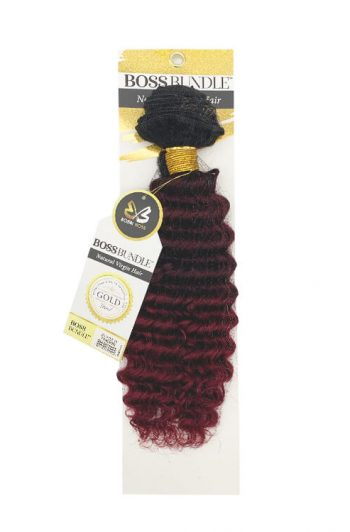 Bobbi Boss Gold Level Boss Bundle Hair Pineapple Deep Natural Virgin Weft Hair 16""