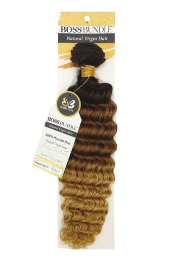 Bobbi Boss Gold Level Boss Bundle Hair Pineapple Deep Natural Virgin Weft Hair 18""