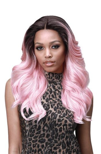 "Bobbi Boss MLF328 Kylie 5"" Deep Part Swiss Lace Front Wig Front"