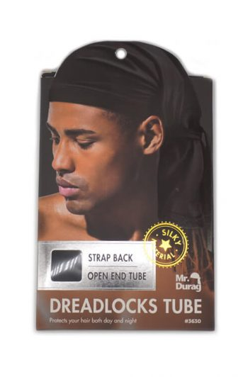 Annie Mr. Durag #3630 Strap Back Dreadlocks Tube Black