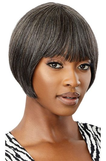 Outre Fab and Fly Gray Glamour HH-Harriet 100% Human Hair Wig Front
