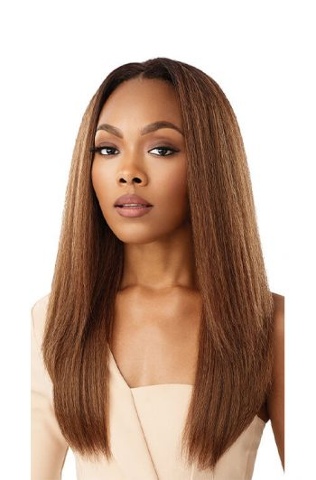 Outre Soft and Natural Neesha H302 Quick Weave Synthetic Half Wig Front