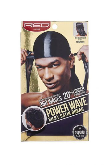 Red by Kiss Power Wave Silky Durag Black