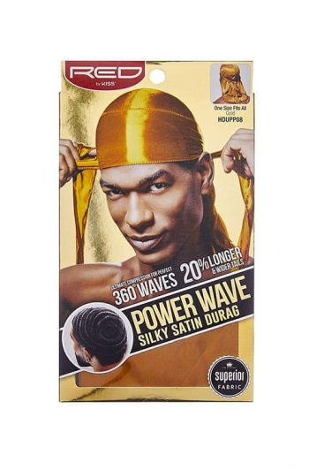 Red by Kiss Power Wave Silky Durag Gold