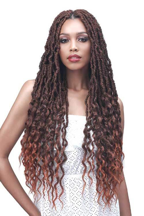 "Bobbi Boss Nu Locs Wavy Tips 28"" 2x Pack Model"