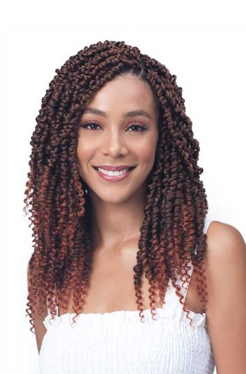 Bobbi Boss Spring Twist Crochet Hair Model