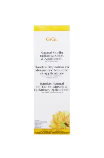 GiGi Natural Muslin Epilating Strips & Applicators