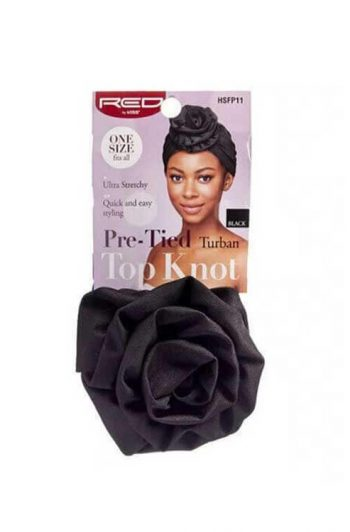 Red by Kiss Pre-Tied Top Knot Turban Better Image HSFP11