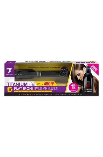 Tyche Titanium Flat Iron Packaging 1.5 Inch