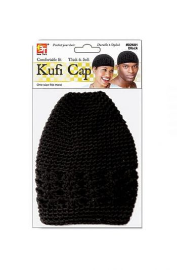 Beauty Town Kufi Cap One Size Fits Most Black
