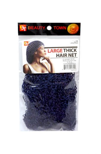 Beauty Town Large Thick Hair Net Navy Blue #02704