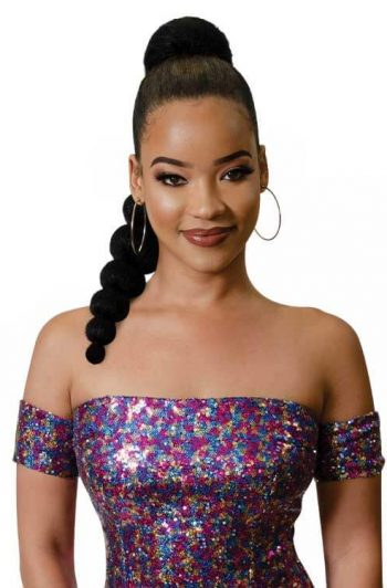 Fashion Source Bubbly Ponytail Model Front
