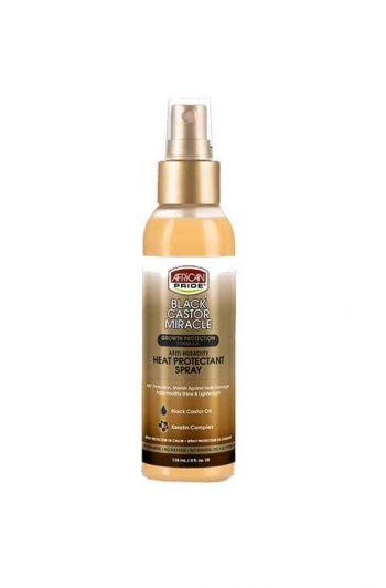 African Pride Black Castor Miracle Heat Protectant Spray