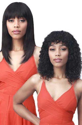 Bobbi Boss MH1302 Olinda Wig Model Straight to Wavy