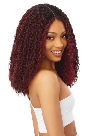 Outre Atlanta Wig Model Side Cherry Red