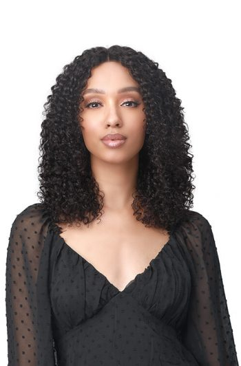 Bobbi Boss MHLF442 Mona 100% Unprocessed Bundle Human Hair Lace Front Wig Curly