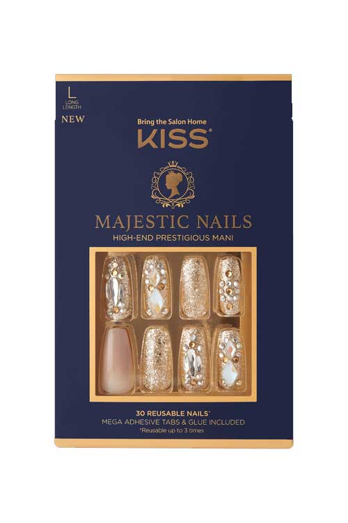 Kiss Majestic Press On Nail Kit KMA01 Packaging Front