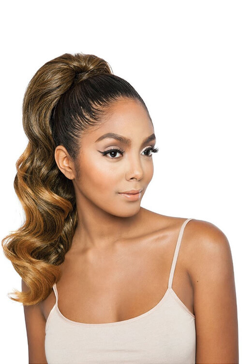 """Mane Concept Glamour Wave WNT 20"""" Wrap and Tie Ponytail BSWNT03 Front"""