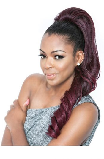 """Mane Concept Super Curl WNT 24"""" Wrap and Tie Ponytail BSWNT02 Front"""