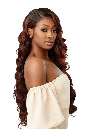 Outre Melted Hairline Chandell HD Transparent Lace Front Wig DRFF2/Cinnamon Mocha